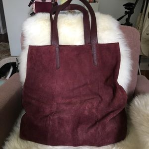 * * FALL SALE * * Maroon Suede Tote